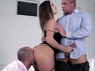 Lana Roy posterior only cum all over two cocks pounding her holes hardcore