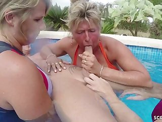 Three GERMAN mommies Help Guy To Suppress On Epicurean treat Approximately FFFM - ANALDIN
