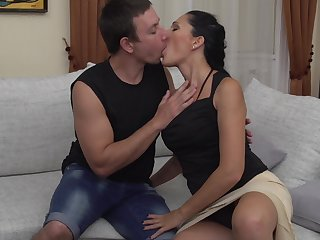 Sex-mad brown mature amateur wife Giorgia gets fucked hard
