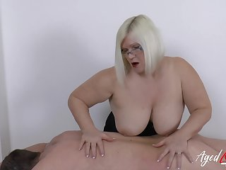 Hardcore mature lass Lacey Starr and horny New Zealand larrikin guy lustful mating