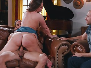 Big booty girl, Maddy OReilly, touched in the head cuckold pleasures