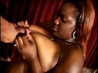Supersized Big Beautiful Women Mammaries Ebony Milf Loves Sucks a Huge Pitch-black Male Pole - beamy booty