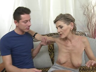 Skinny mature tattooed pretty good Irenka S. gets her pussy pounded hard