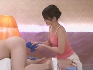 Anal rub down and cleaning service with Maki Hojo