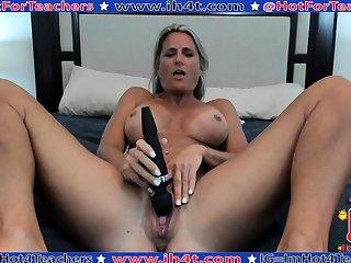 Grown up masturbate with big toy