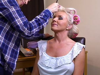 Krista E. does Valerinas hair and licks her hairy pussy