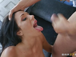 Latina with broad in the beam tits Jaclyn Taylor swallows cum after a fuck
