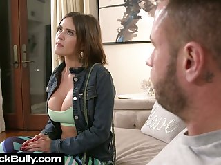 Busty sexpot Krissy Lynn gives BJ and gets poked doggy darn smashing