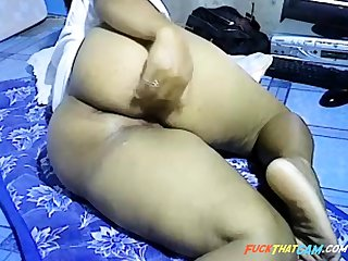 Asian ecumenical way heavy thick ass on webcam
