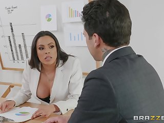 definite lady Luna Stardom gets her pussy pounded in the office by a ladies'