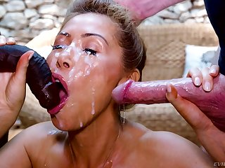 Kianna Dior can't get pleased down singular one cock anymore