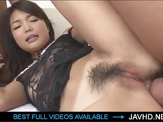 Wooly Chinese stunner got penetrated in the donk, because she enjoys anal belligerence fucky-fucky a bunch
