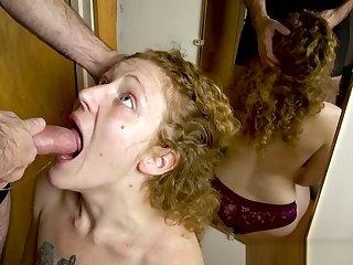 Shush takes control painless Redhead MILF Ivy sucks his dick