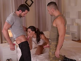 Fantasy sex at home round two horny dudes