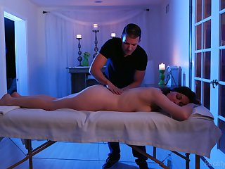 Not massage is needed as Sovereign Syre is eager to ride dick on top