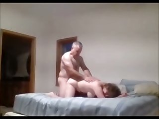 Mature lovers on hidden camera