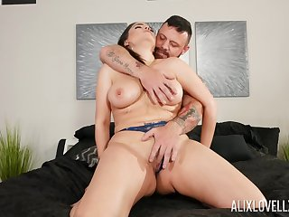 MILF gets dick in both holes and sperm to encircle those lips